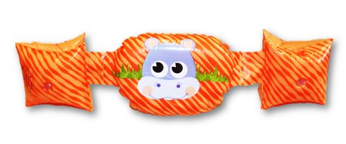Banzai Character Armbands ~ Ages 3-5 Years (Orange Hippo)