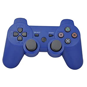 Vigrand® Bluetooth 6 Axis Wireless Controller Gamepad Joypad Dualshock for Sony Playstation 3 Ps3 with Package,11 Color Available (Blue)