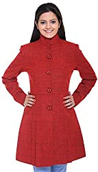 300 BC Women's Coat (BC12006RED, Red, M)