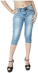INTEGRITI Women's Slim Fit Capri (EXPLORE-LCP-105 EZYFT ICE_26, Blue, 26)