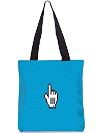 Snoogg Yoo Yoo Digitally Printed Utility Tote Bag Handbag Made Of Poly Canvas