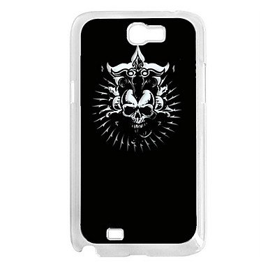 Hp Df Skull Pattern Led Sense Flash Lighting Hard Case For Samsung Galaxy N7100