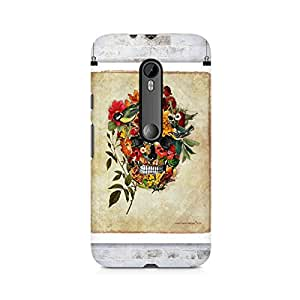 Mobicture Skull Art Premium Printed Case For Moto X Force