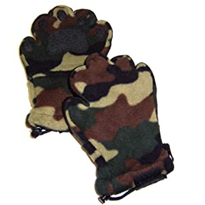 Youth Large Fleece Mittens Camouflage