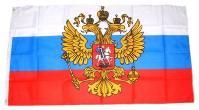 Fahne / Flagge Russland mit Adler 150 x 250 cm
