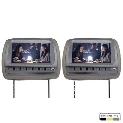 "Ouku 9"" Car Headrest Dvd Player Support Fm Transmitter Wireless Game Free Headphones (1 Pair) front-741489"