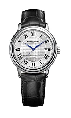 Raymond Weil Men's 2837-STC-00659 Maestro Silver Dial with Roman Numerals Watch