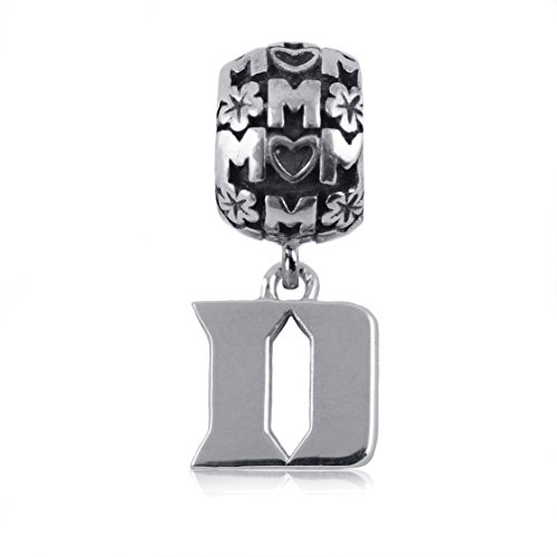 NCAA Duke Blue Devils .925 Sterling Silver Mom Charm Bead, Duke Jewelry