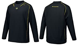 Missouri Tigers Pay Dirt Embroidered Smooth Finish Performance NikeFit Crew Top by Nike