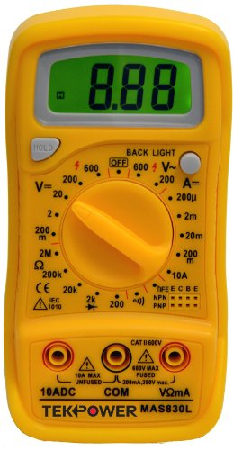 Tekpower-MAS830L-ACDC-600V-DC-10A-Digital-Multimeter-with-Continuity-Test-Back-lit-DisplayMS8268-SeriesTekpower-OEM