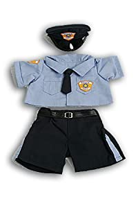 "Police Uniform Outfit Teddy Bear Clothes Fit 14"" - 18"" Build-a-bear, Vermont Teddy Bears, and Make Your Own Stuffed Animals by Bear Factory"