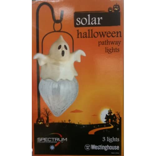 ... Solar Halloween Pathway Lights Ghost - 3 Pack : Landscape Lighting