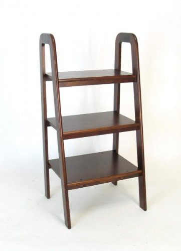 Short Bookcase Cheap Price Low Price Short Ladder Stand Brown 44 Quot H X 22 Quot W X 19 Quot D