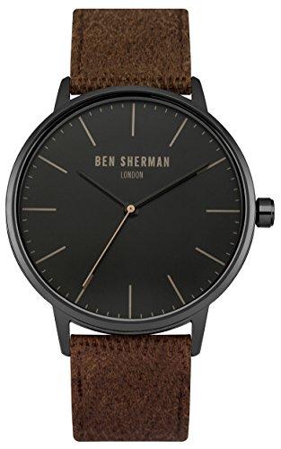ben-sherman-orologio-da-polso-analogico-uomo-tessuto-marrone