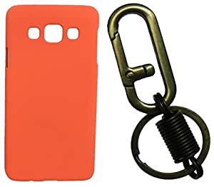 Toppings Hard Case Cover With Matallic KeyChain For Samsung Galaxy J1Ace - Orange