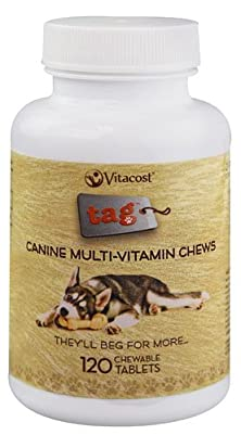 buy Vitacost Canine Multi-Vitamin Chews -- 120 Chewable Tablets