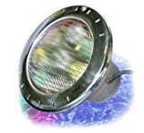 Zodiac-CPHVLEDS100-WaterColors-120-Volt-LED-Pool-and-Spa-Light-with-Stainless-Steel-Face-Ring-100-Feet-Cord-Large
