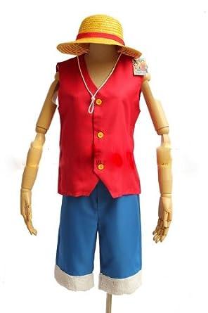 One Piece Monkey D Luffy Anime Cosplay Costume FULL Set - XXL Size