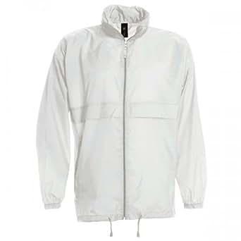 B&C Sirocco - Veste coupe-vent légère résistante à l'eau - Homme (S) (Blanc)