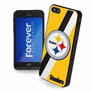 Forever Collectibles Pittsburgh Steelers Team Logo Hard Snap-On Apple iPhone 5 & 5S Case