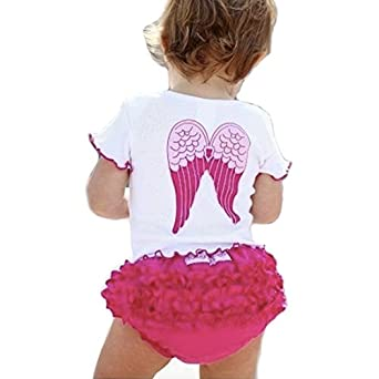 Baby Girls Toddlers so Blessed Angel Wings Tee and Ruffle Pants Outfit Bloomers