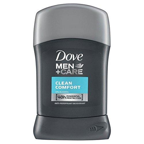 Dove Uomini + Cura Antitraspirante Deodorante - Bastone Comodità Pulito (50ml) (Confezione da 6)