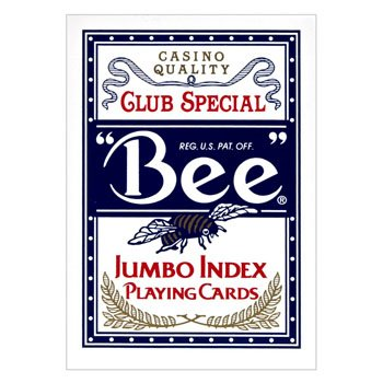 Bee Jumbo Index Playing Cards: Bee Poker Playing Cards with Large Numbers, One Dozen Decks