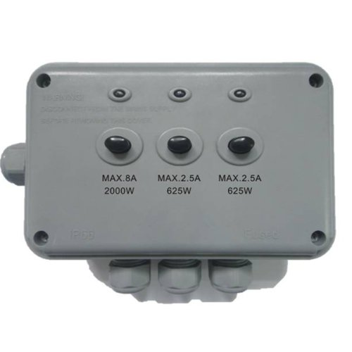 3-Switch Electrical Junction Box