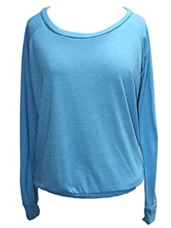 YogaColors Black Heart Tri-Blend Light Weight Raglan Pullover BR394 (X-Large, Eco Turquoise)