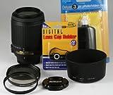 415FJtWuf9L. SL160  Nikon AF S DX VR (Vibration Reduction) Zoom Nikkor 55 200mm f4.0 5.6 G IF  ED Lens With Nikon Lens pouch , Nikon Lens Hood , Set of 3 High Resolution Filters , Lens Cap Holder . Lens Cleaning Kit .For All nikon Digital SLR cameras