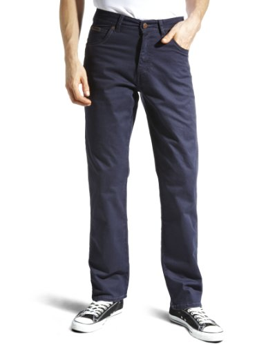 Wrangler Texas Tapered Men's Jeans Navy W30 InxL32 In