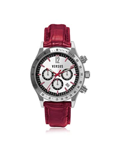 Versus by Versace Women's SGC030012 Cosmopolitan Red/Silver Calfskin Watch