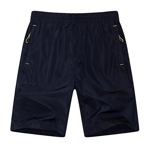 Mens-Quick-Dry-Shorts-Zipper-Pockets