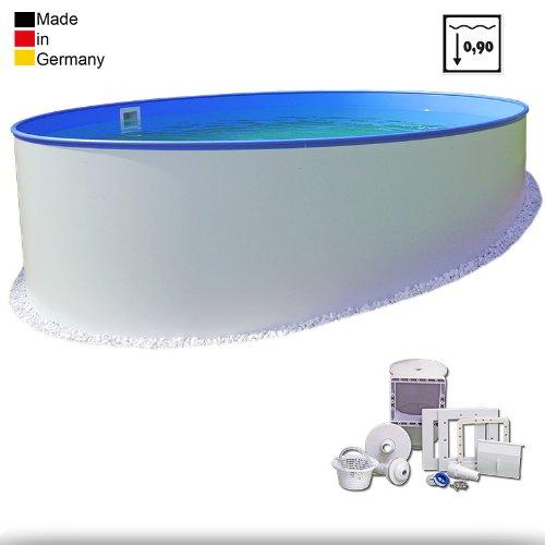 3 00m pool premium tiefe 0 90m 0 6mm folie stahlmantel keilbiese mit skimmer set. Black Bedroom Furniture Sets. Home Design Ideas