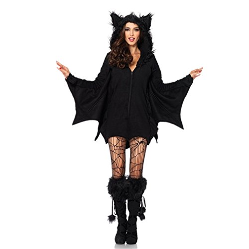WE-BEAUTY®Masquerade Catwoman Vampire Girl Halloween Bat Dress XMAS Costume