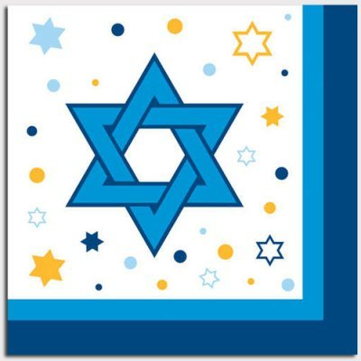 Stars Of Hanukkah Dessert Napkins 18 Pack - 1