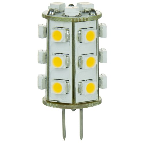 Sunlite Gu4/21Led/1W/Ww/12V 12-Volt 1-Watt Gu4 Based Bi-Pin Lamp, Warm White Color