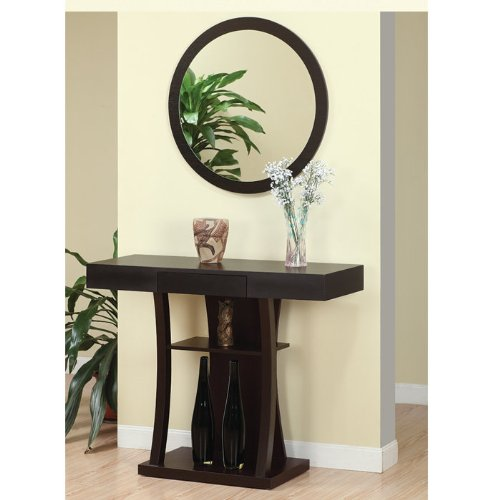 Taree Round Beveled Mirror front-523159