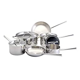 Giada De Laurentiis™ for Target® 10-pc. Professional Series Tri-Ply Clad Cookware Set : Target from target.com