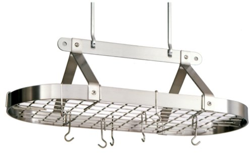Image of Enclume Large Oval Stainless Steel Pot Rack (PR16SWG)