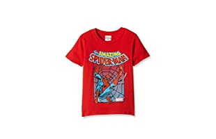 MARVEL Camiseta Manga Corta Spiderman Battle (Rojo)