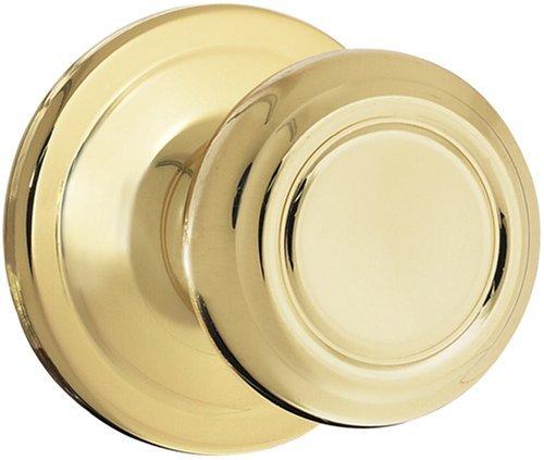 Kwikset 200Cn 3 Cp Maximum Security Cameron Passage Knob, Polished Brass front-873767