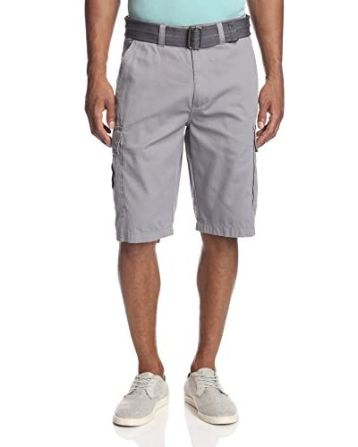 London Fog Men's Belted Baby Ripstop Cargo Short