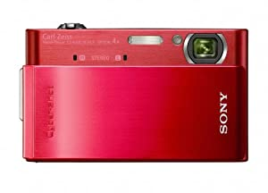 Sony Cyber-shot DSC-T900 12.1 MP Digital Camera with 4x Optical Zoom and Super Steady Shot Image Stabilization (Red)