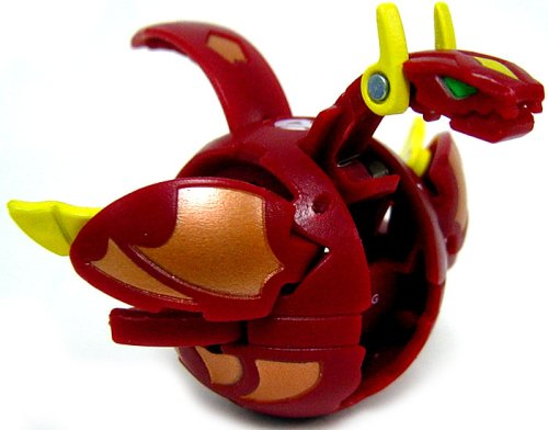 Bakugan New Vestroia Bakuneon LOOSE Single Figure Red Pyrus