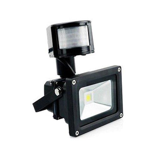 Lemonbest® 10 Watts Led Floodlight Pir Motion Sensor Led Flood Light Induction Sense Lamp Integrated Lamp Warm White Ac 100V-245V (Black Housing) front-206345
