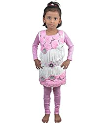 Motley Girls' Dress (3-4a_4-5 years_Pink _4-5 years)