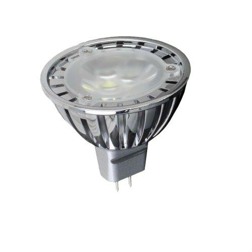 Hitlights 3 Watt Dimmable Mr16/Gu5.3 Warm White Led Bulb - 10 Year Lifespan, Replaces 20 Watt - 3000K, 165 Lumens, 12 Volts