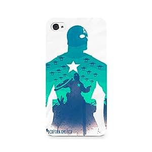 Rubix Customized Designer Hard Back Phone Case of Captain America Minimalist for Vivo Y15