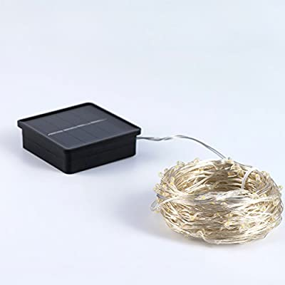 Solar String Lights,LED Outdoor Starry String Lights,Waterproof Silver Wire Lights For Christmas,Seasonal